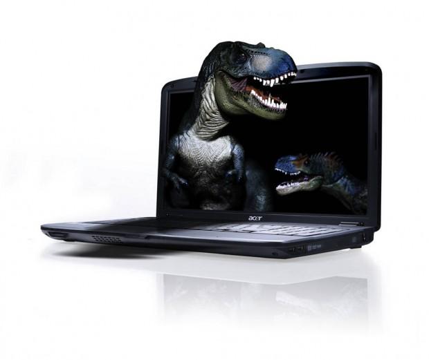 лаптоп динозавър