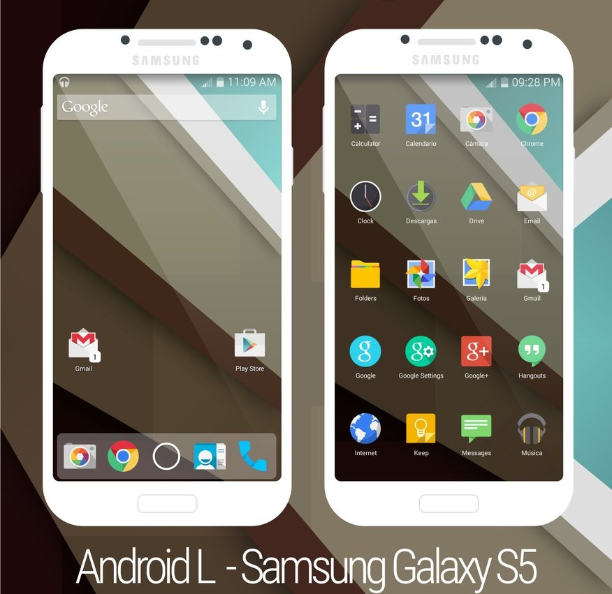 Android L - Galaxy S5