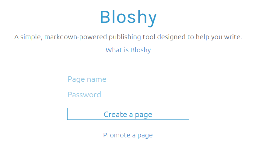 Bloshy front page