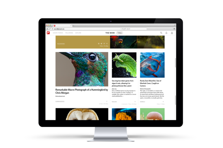 Flipboard for web