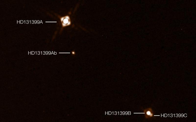 Системата HD 131399 | Снимка: ESO / K. Wagner et al.
