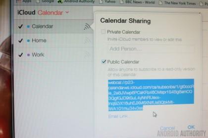 Експортиране на календар от iCloud