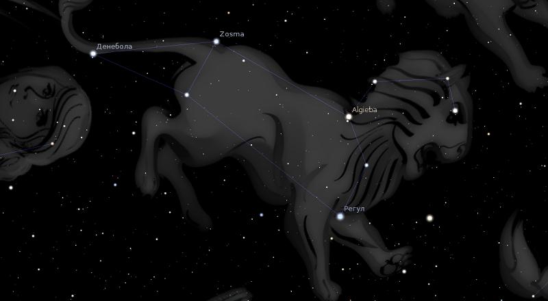 астрологията stellarium лъв