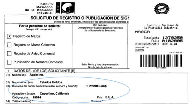 iWatch Trademark (Mexico)