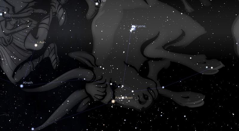 астрологията stellarium телец