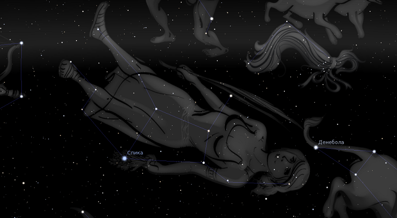 астрологията stellarium дева